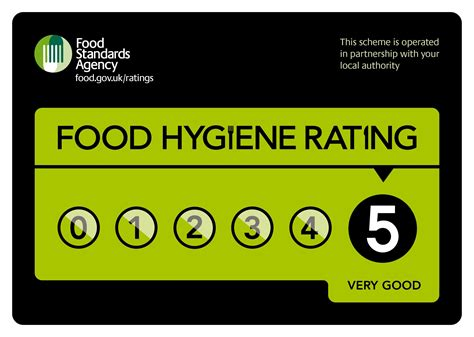 image of the five star food hygiene award