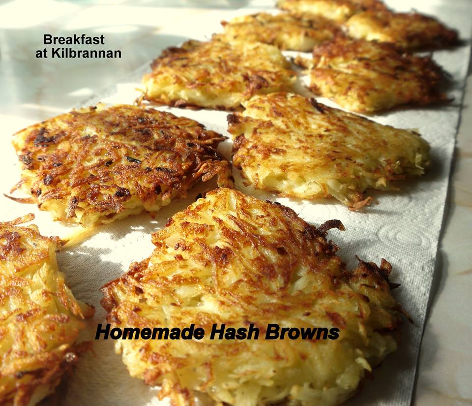photo of homemade hash browns